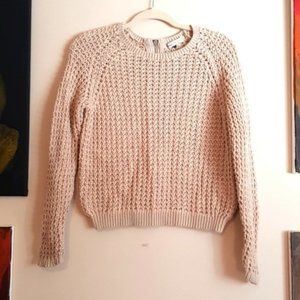 Only knit back zip cotton sweater